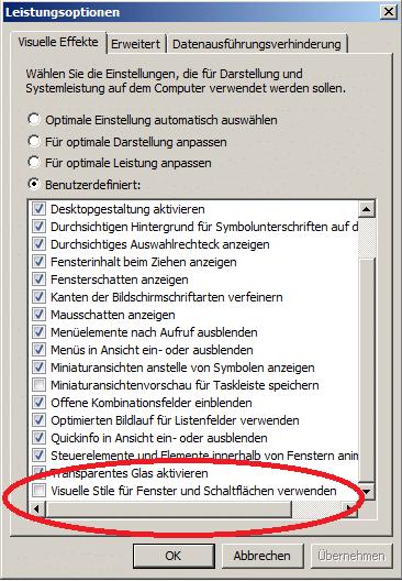 Windows schneller machen - Windows Aero deaktivieren