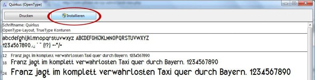 Neue Schriftarten unter Windows 7 installieren