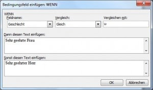 Anleitung: Serienbrief in Word 2003 erstellen
