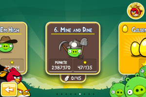 Komplettlösung für Angry Birds 6. Mine and Dine