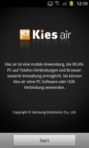 Sein Android Smartphone kabellos mit dem PC verbinden mit Kies Air