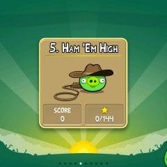 Angry Birds 5. Ham em High Lösung