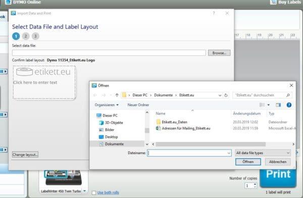 Abbildung 5: Über die Browse-Funktion wählen Sie die benötigte Excel-Datei aus